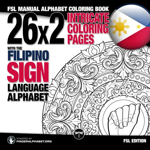 FSL MANUAL ALPHABET COLORING BOOK