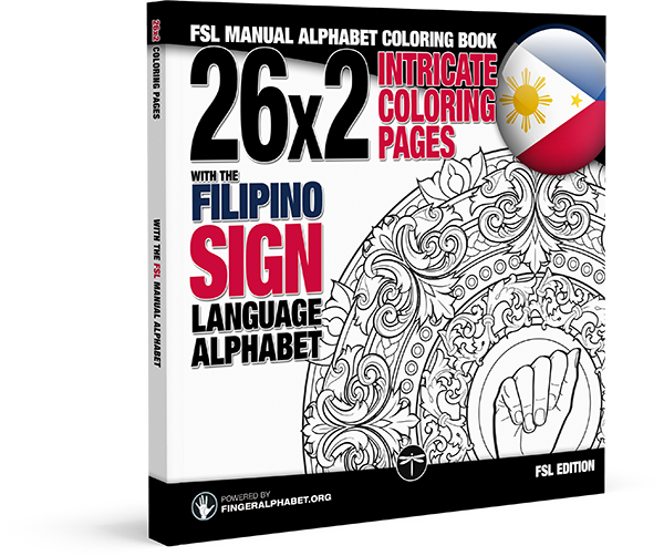 FSL MANUAL ALPHABET COLORING BOOK | LegendaryMedia Publishing