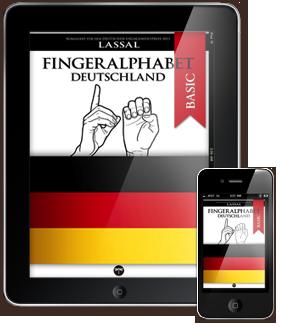 Fingeralphabet Deutschland Buchstaben A-Z, Nummern 0-10