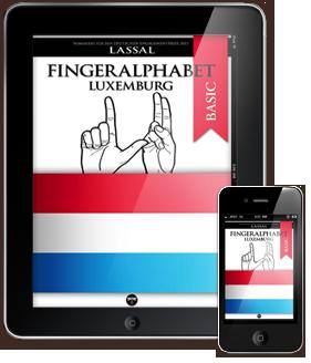 Fingeralphabet Luxemburg – Buchstaben A-Z Nummern 0-10