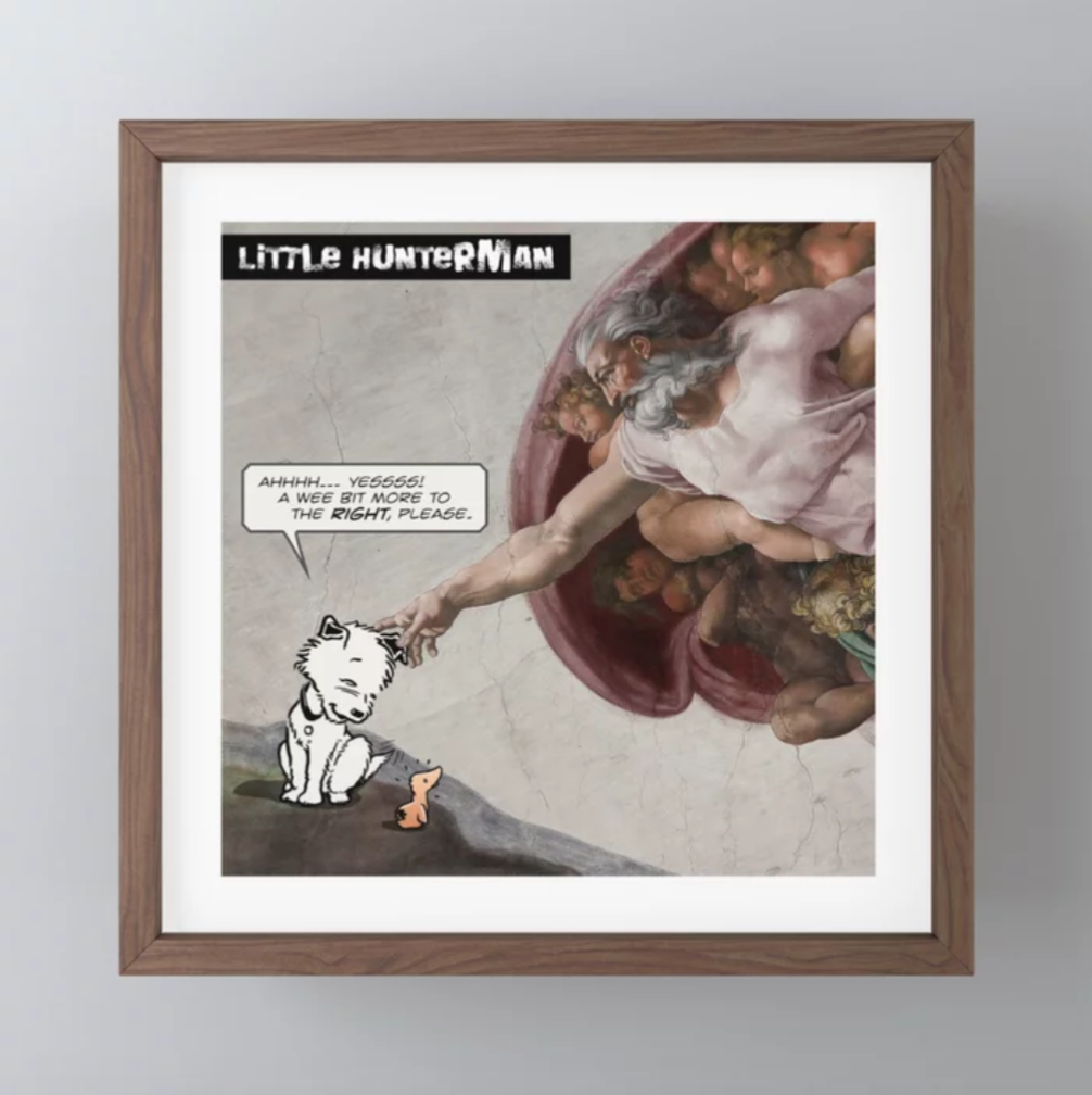 The Creation of Little Hunterman Print