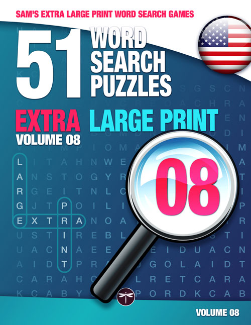 Sam's Extra Large Print Word Search Book Book 08